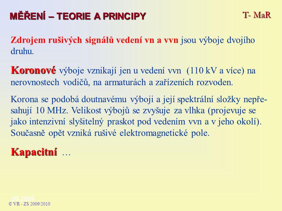09.2009 Zdrojem rušivých signálů vedení vn a vvn jsou výboje dvojího druhu.