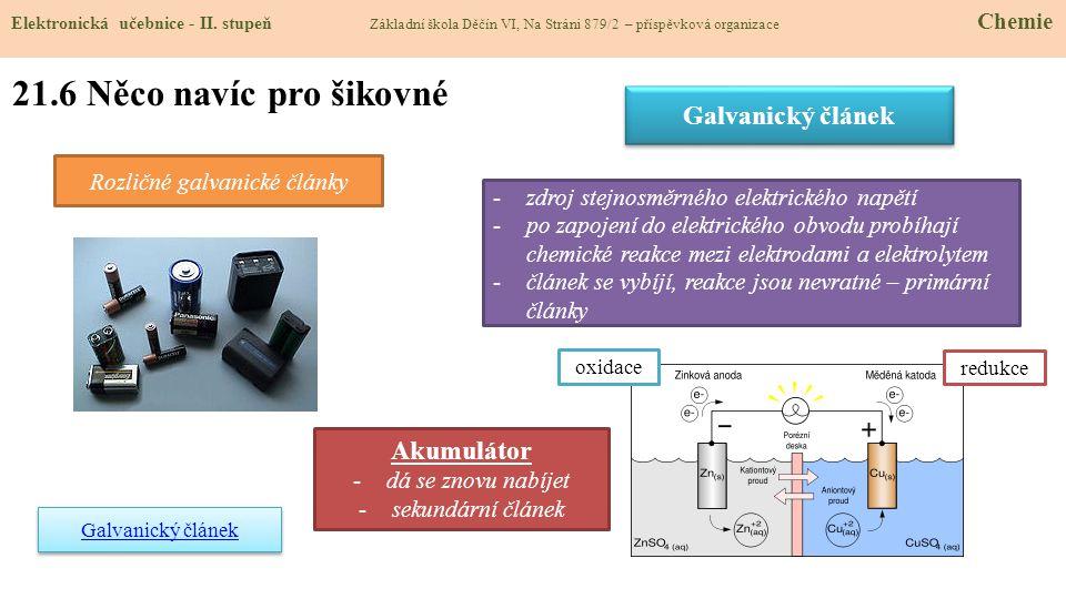 21.6 Něco navíc pro šikovné Elektronická učebnice - II.
