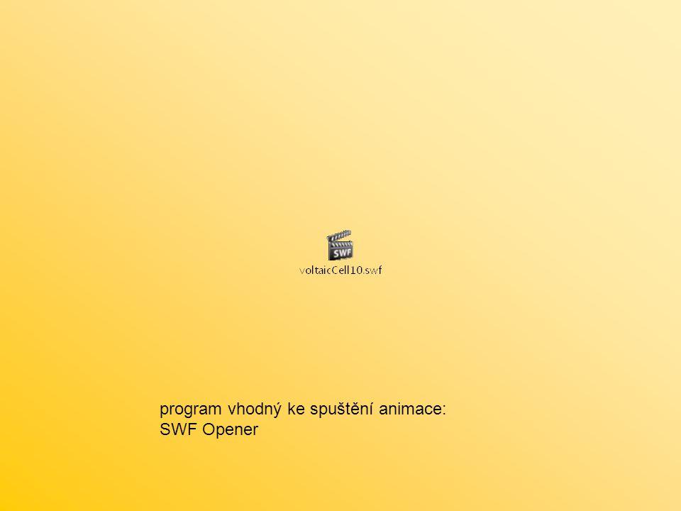 program vhodný ke spuštění animace: SWF Opener