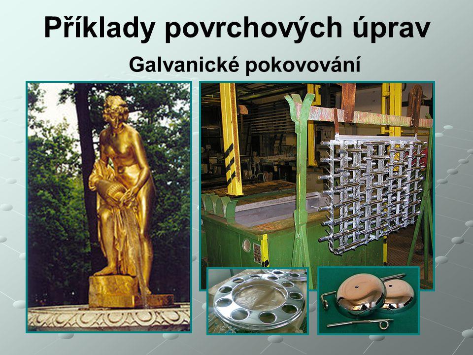 Příklady povrchových úprav Galvanické pokovování
