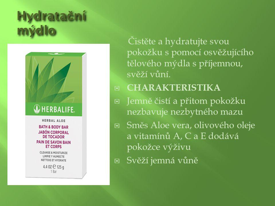 Hydrata č ní mýdlo Čistěte a hydratujte svou pokožku s pomocí osvěžujícího tělového mýdla s příjemnou, svěží vůní.  CHARAKTERISTIKA  Jemně čistí a p