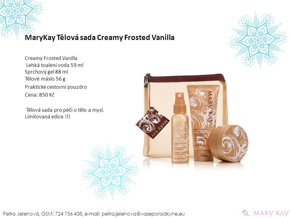 MaryKay Tělová sada Creamy Frosted Vanilla Creamy Frosted Vanilla Lehká toalení voda 59 ml Sprchový gel 88 ml Tělové máslo 56 g Praktické cestovní pou