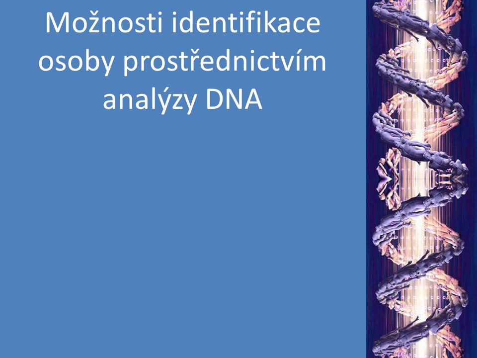 metoda se nazývá RFLPs DNA je inkubována s restriktázou Mnoho možností, které restriktázy užít (i kombinace více restriktáz) DNA lze poté zviditelnit s použitím specifické sondy – výsledný hybridizační obraz je u různých osob různý (Restriction Fragment Length Polymorphisms) Délkový i sekvenční polymorfismus!!!