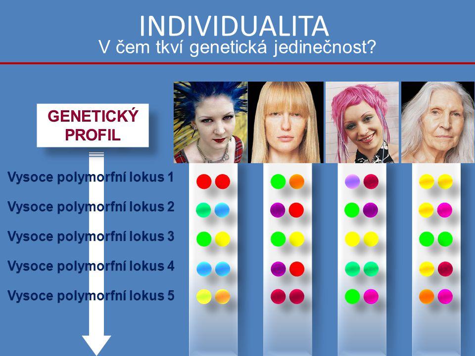 INDIVIDUALITA V čem tkví genetická jedinečnost?