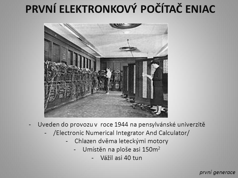 První sériově vyráběný počítač UNIVAC - Uvedla na trh v roce 1951 firma Remington první generace UNIVAC I ve Franklinově životní pojišťovně