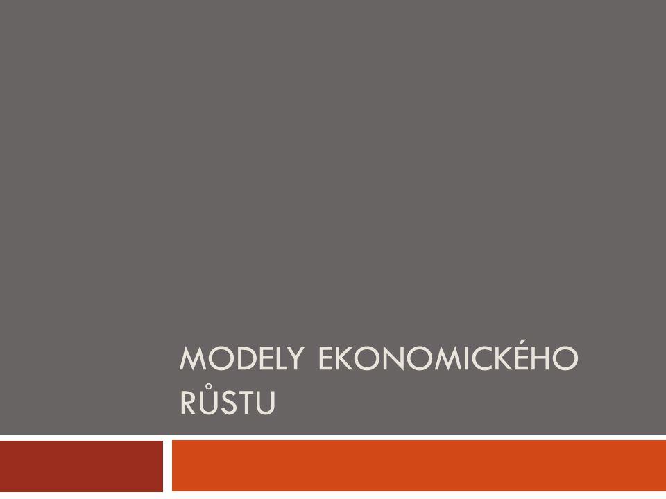 """Ekonomický růst  = růst potenciálního produktu """"Y* v čase  = trend  Důvody růstu:  - růst množství výrobních vstupů (výrobních faktorů)  - růst produktivity VF – organizace, inovace, technologický vývoj, apod."""