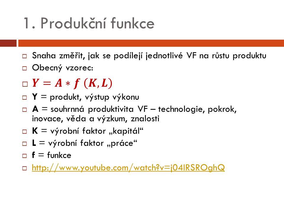 1. Produkční funkce