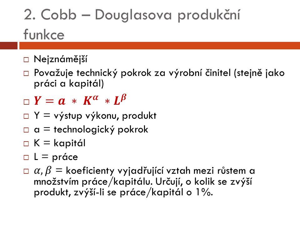 2. Cobb – Douglasova produkční funkce