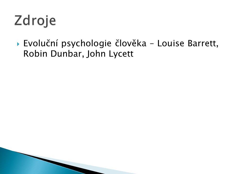  Evoluční psychologie člověka – Louise Barrett, Robin Dunbar, John Lycett