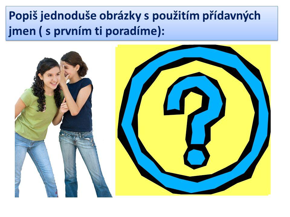 Popiš jednoduše obrázky s použitím přídavných jmen ( s prvním ti poradíme): There are two young girls.