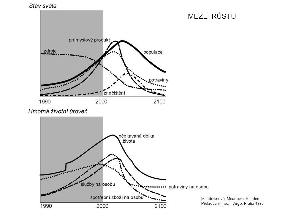 MEZE RŮSTU Meadowsová, Meadows, Randers, Překročení mezí, Argo, Praha 1995
