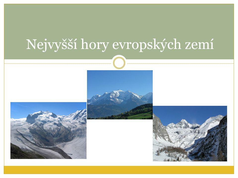 Nejvyšší hory evropských zemí