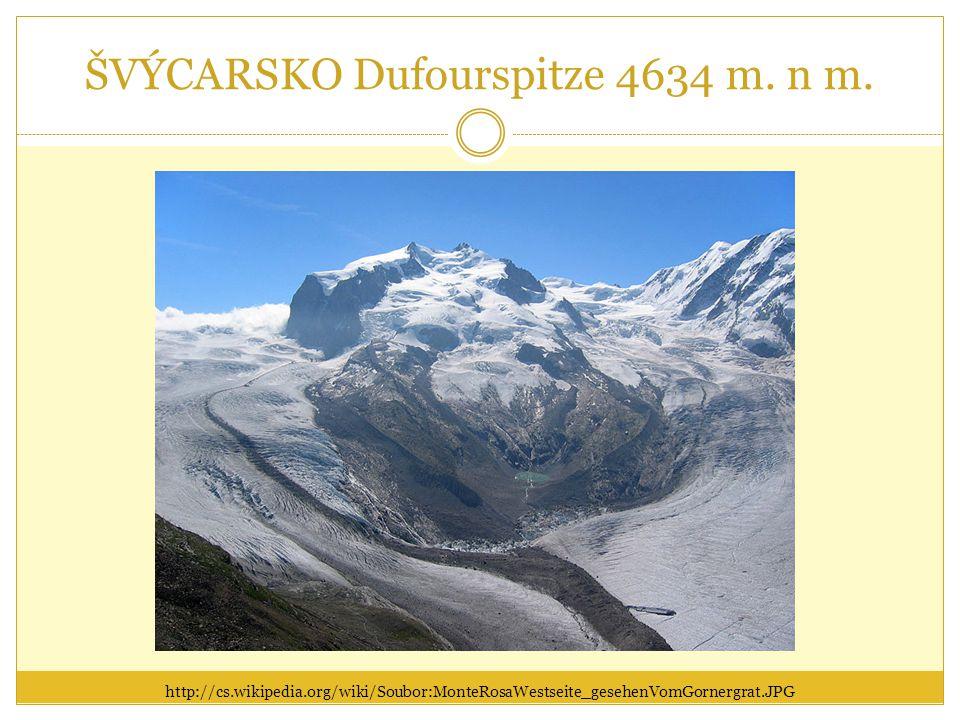 ŠVÝCARSKO Dufourspitze 4634 m. n m.