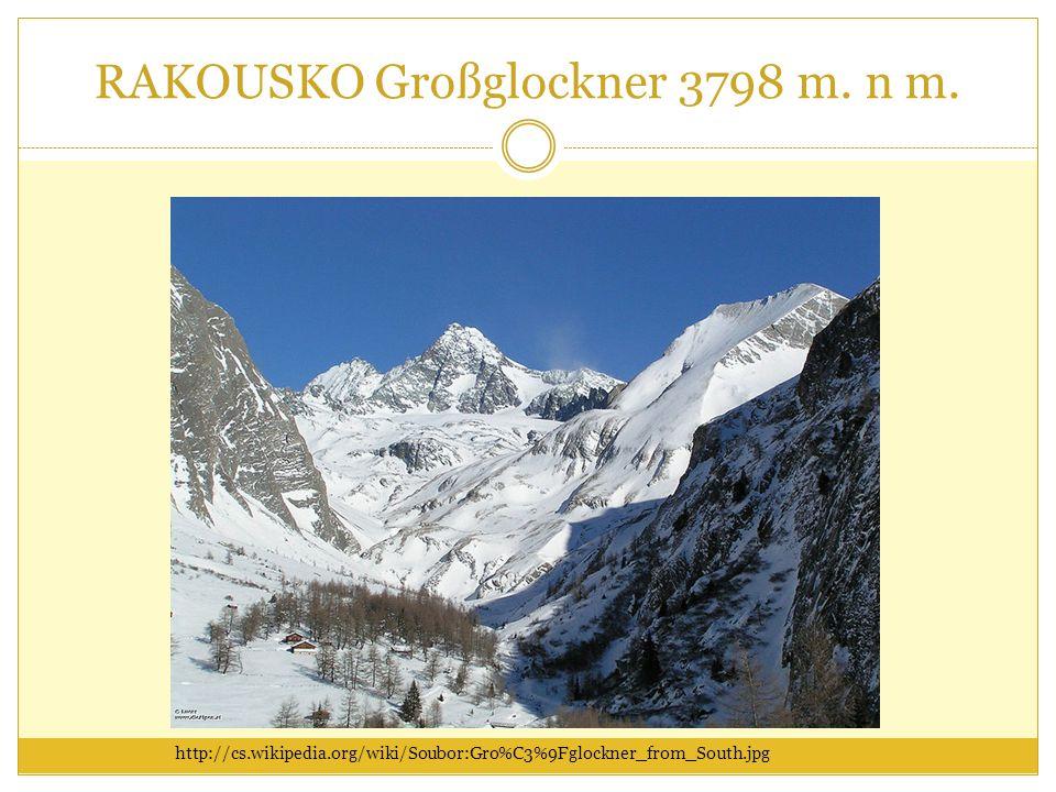 RAKOUSKO Großglockner 3798 m. n m.