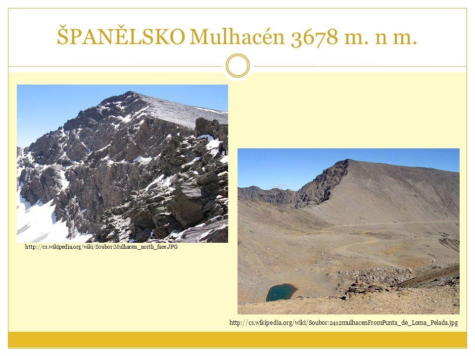 ŠPANĚLSKO Mulhacén 3678 m. n m.