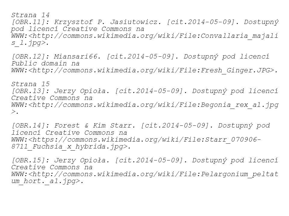 Strana 14 [OBR.11]: Krzysztof P. Jasiutowicz. [cit.2014-05-09]. Dostupný pod licencí Creative Commons na WWW:. [OBR.12]: Miansari66. [cit.2014-05-09].