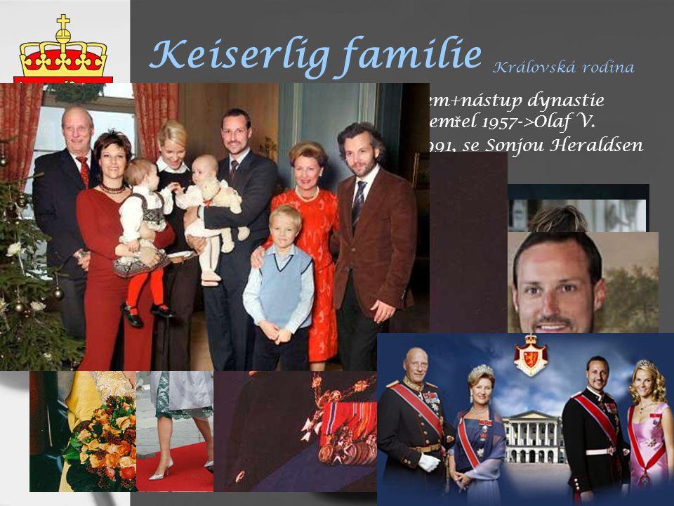 Keiserlig familie Královská rodina 1905 Norsko samostatným státem+nástup dynastie Glücksburg - Haakon VII.