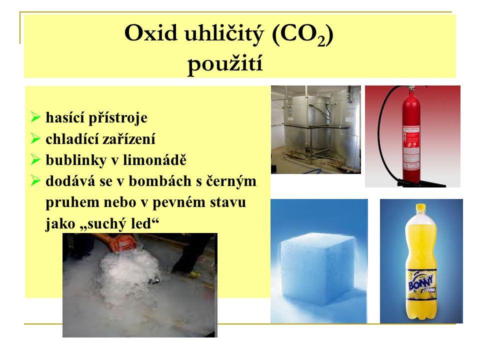 Oxid uhličitý vlastnosti a použití Zapiš si.Oxid uhličitý vzniká při hoření.