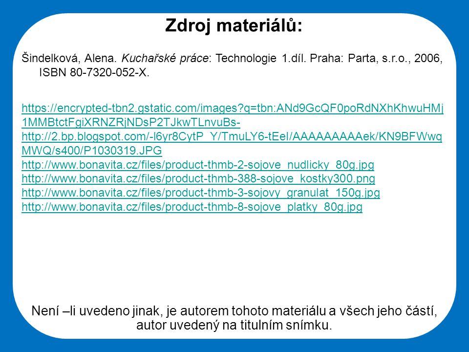 Střední škola Oselce Zdroj materiálů: Šindelková, Alena.