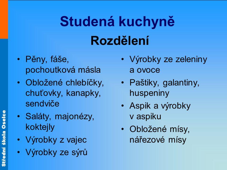 Střední škola Oselce Použití vajec Ve studené kuchyni Obr.27