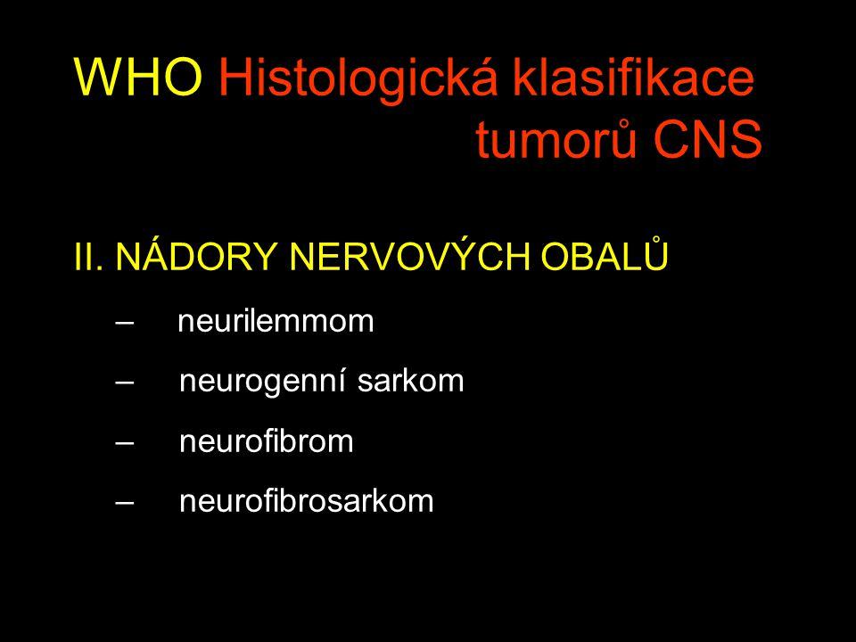 WHO Histologická klasifikace tumorů CNS II.