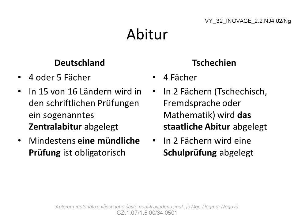 Abitur Deutschland 4 oder 5 Fächer In 15 von 16 Ländern wird in den schriftlichen Prüfungen ein sogenanntes Zentralabitur abgelegt Mindestens eine mün