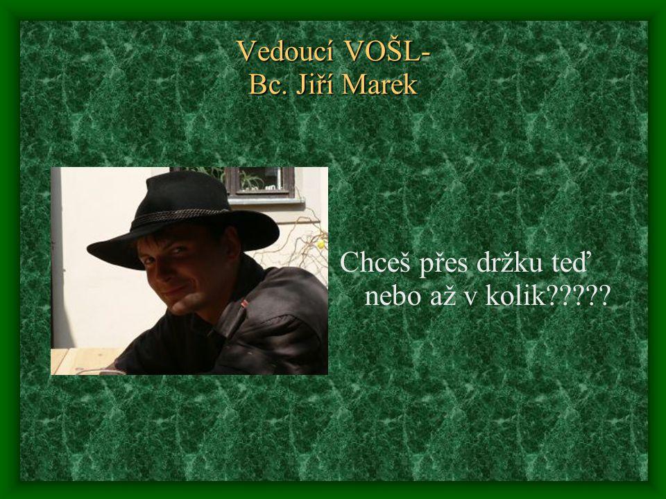 Vedoucí VOŠL- Bc. Jiří Marek Chceš přes držku teď nebo až v kolik