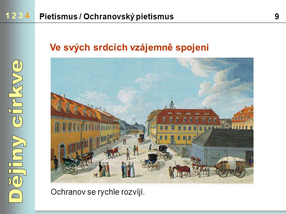 Pietismus / Ochranovský pietismus10 1 2 3 4 Nové víno v nových měších Místní obyvatelé se chápali jako společenství víry.