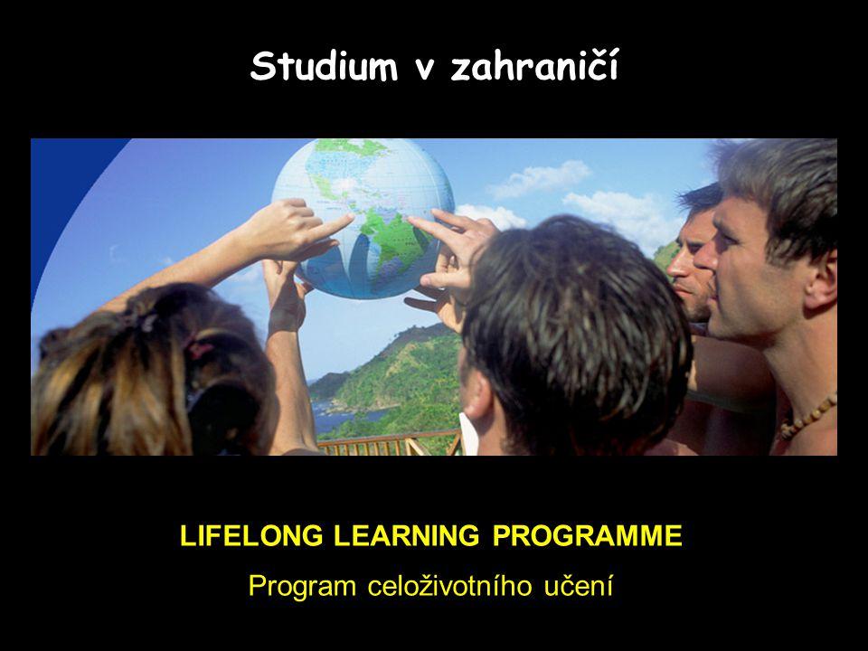 LIFELONG LEARNING PROGRAMME Program celoživotního učení Studium v zahraničí