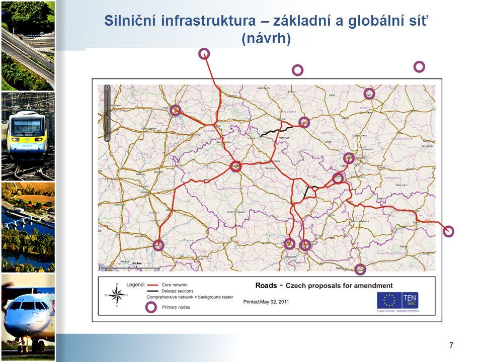 7 Silniční infrastruktura – základní a globální síť (návrh)