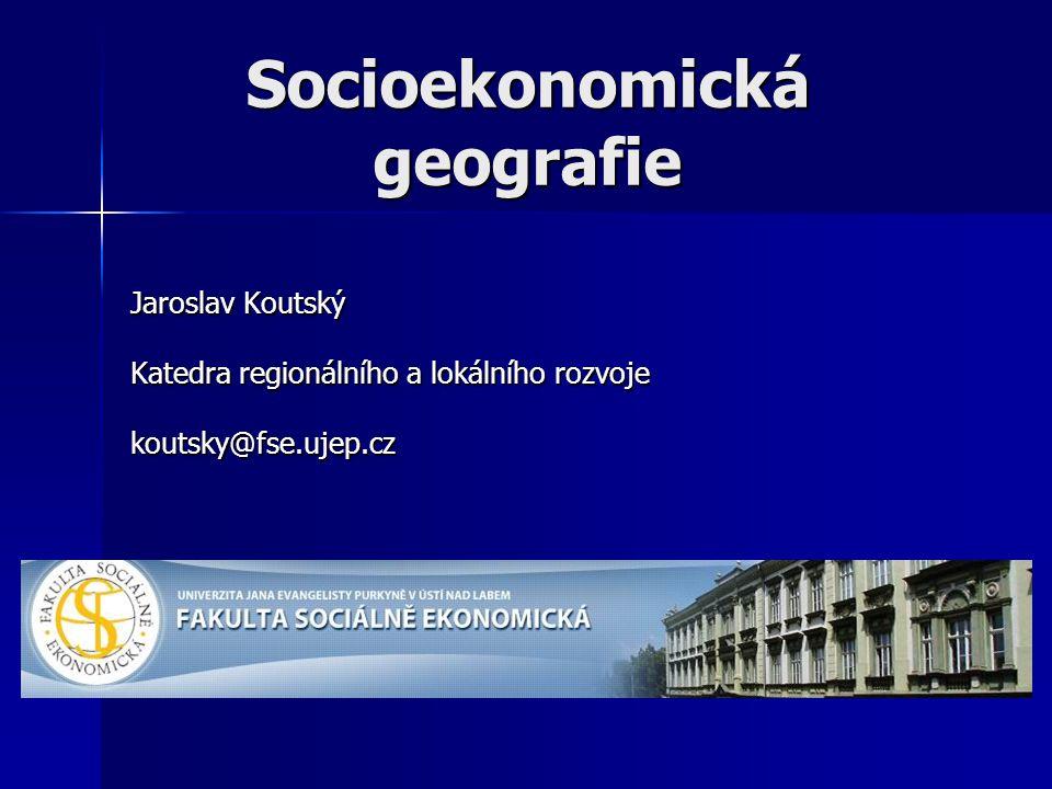 Literatura I.Šotkovský – Socioekonomická geografie v obecném přehledu I.