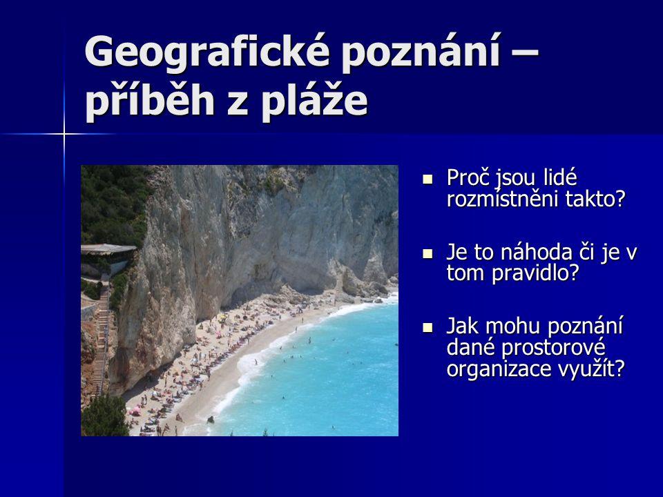 Geografické poznání – příběh z pláže Příroda jako aktér procesu Peter Haggett – Geography – a global synthesis