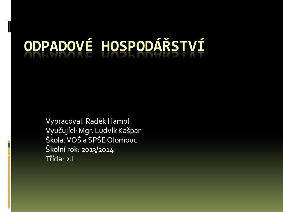Vypracoval: Radek Hampl Vyučující: Mgr. Ludvík Kašpar Škola: VOŠ a SPŠE Olomouc Školní rok: 2013/2014 Třída: 2.L