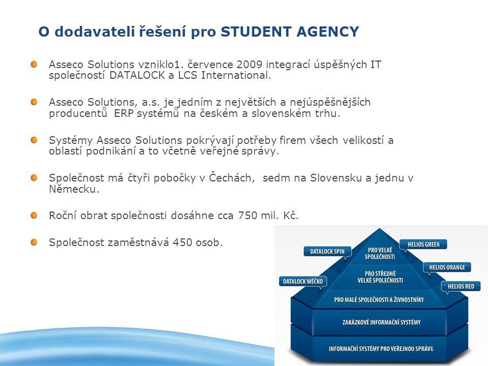 O dodavateli řešení pro STUDENT AGENCY Asseco Solutions vzniklo1.