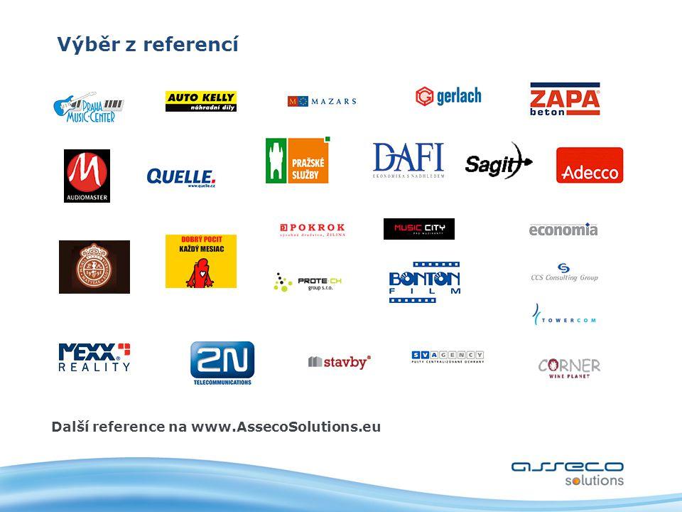 Výběr z referencí Další reference na www.AssecoSolutions.eu