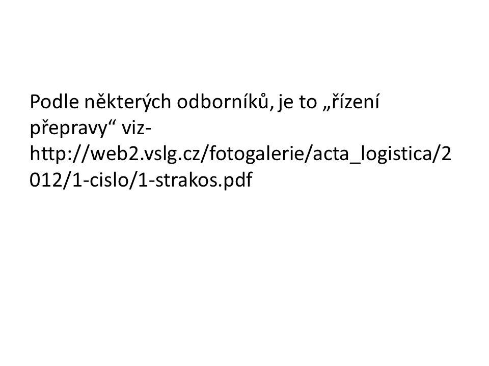 """Podle některých odborníků, je to """"řízení přepravy viz- http://web2.vslg.cz/fotogalerie/acta_logistica/2 012/1-cislo/1-strakos.pdf"""