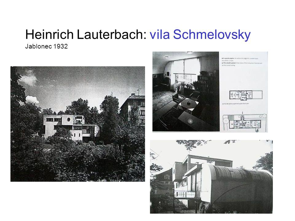 Heinrich Lauterbach: vila Schmelovsky Jablonec 1932