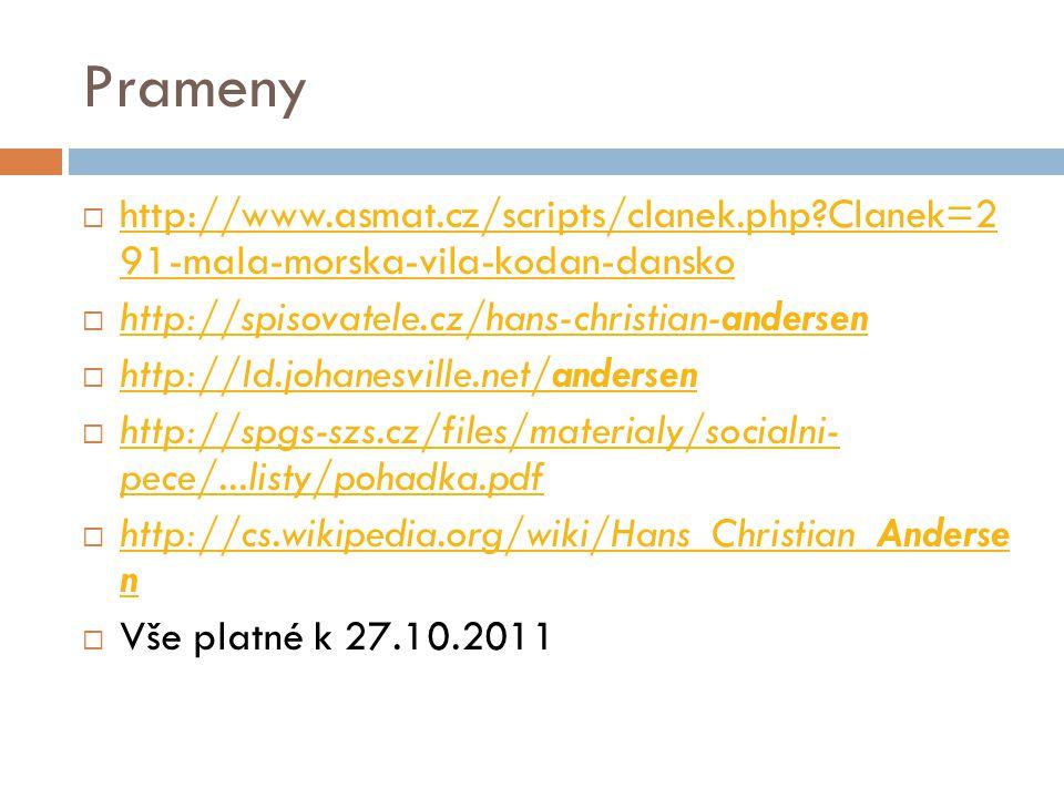 Prameny  http://www.asmat.cz/scripts/clanek.php?Clanek=2 91-mala-morska-vila-kodan-dansko http://www.asmat.cz/scripts/clanek.php?Clanek=2 91-mala-mor
