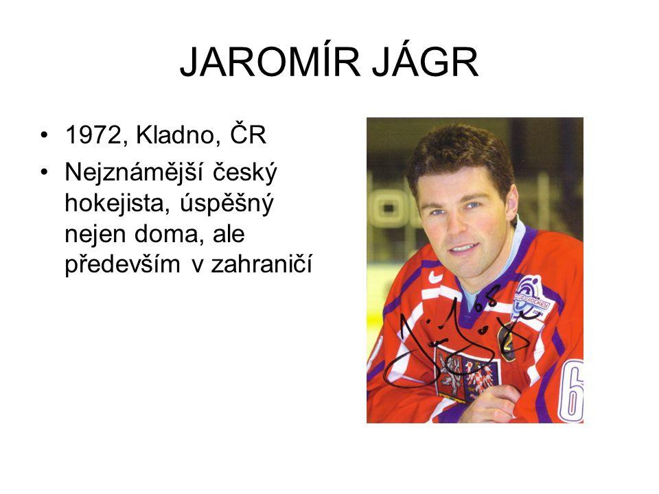 Jaromír Jágr je jeden nejznámějších českých sportovců, kteří naši republiku reprezentují v zahraničí.