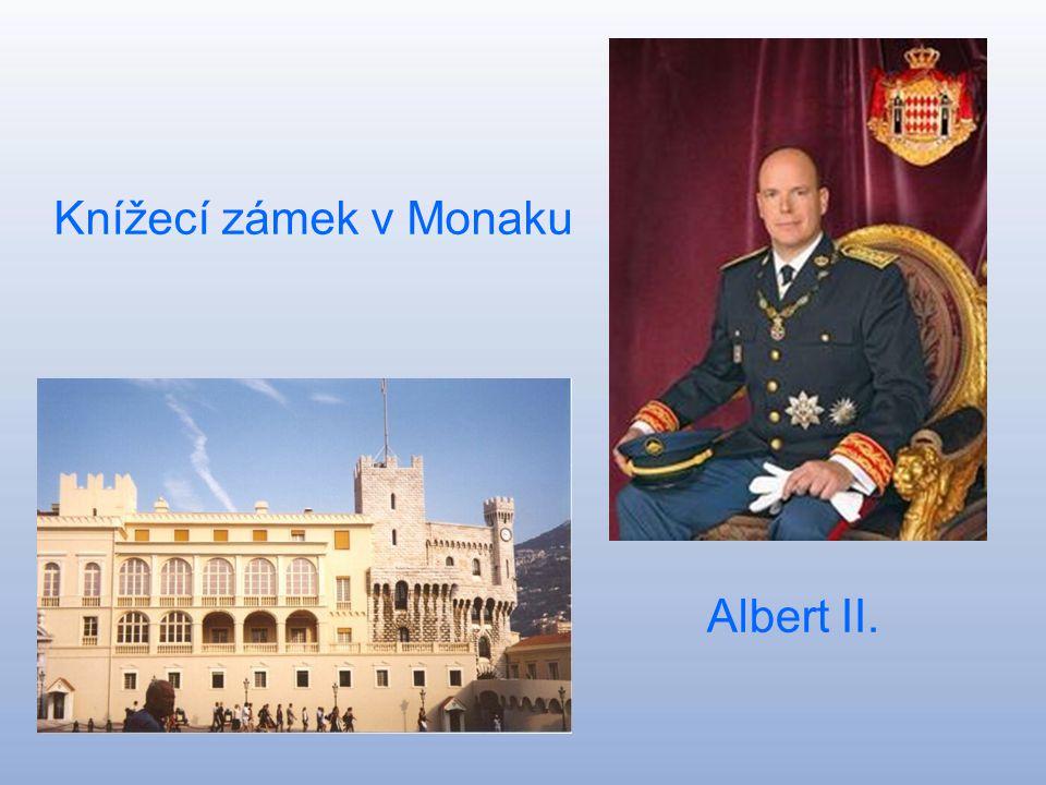 Monacké knížectví Principauté de Monaco Hlavní město:Monaco-Ville Rozloha:1,95 km^ Počet obyvatel:32 409 Kníže :Albert II.