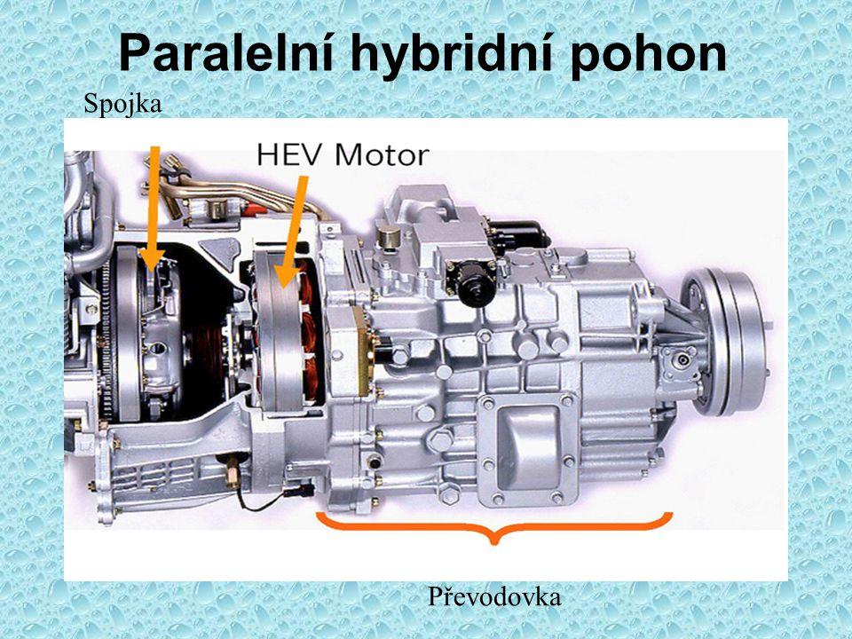 Hybridní pohon vozidla Paralelní pohon: Motor + elektro Elektropohon a rekuperace Spouštění