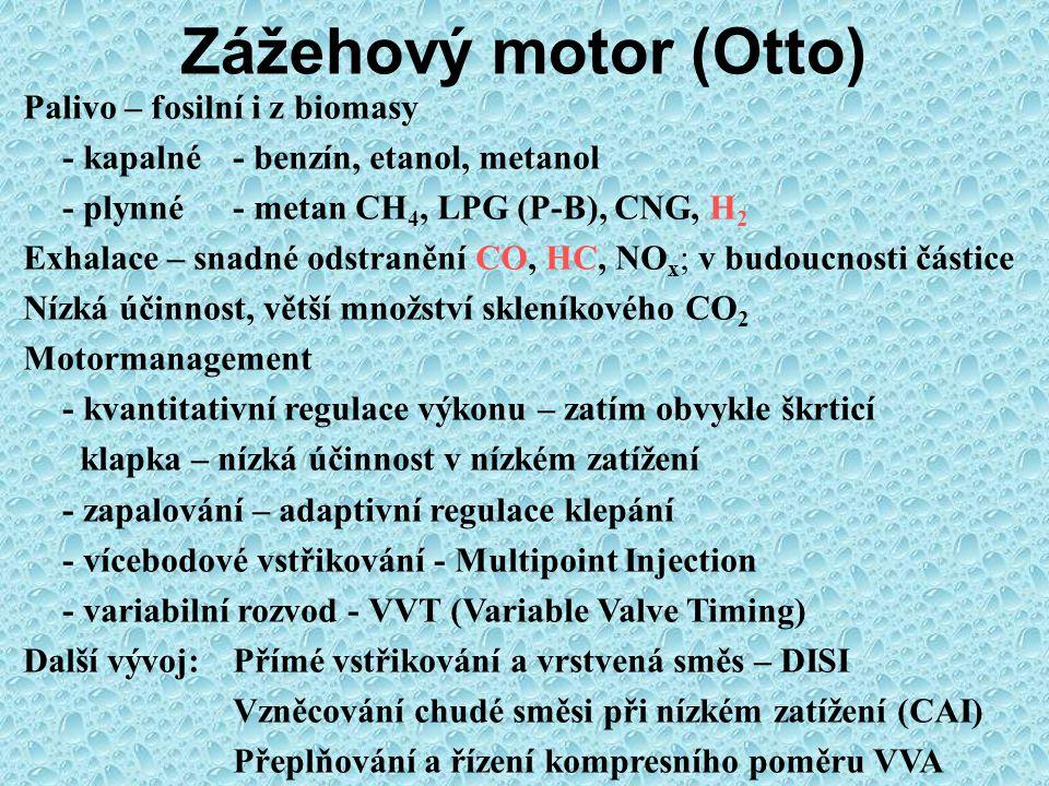 Pístový spalovací motor a jiné možnosti pohonu - alternativy Varianty kinematiky mechanismu, např.