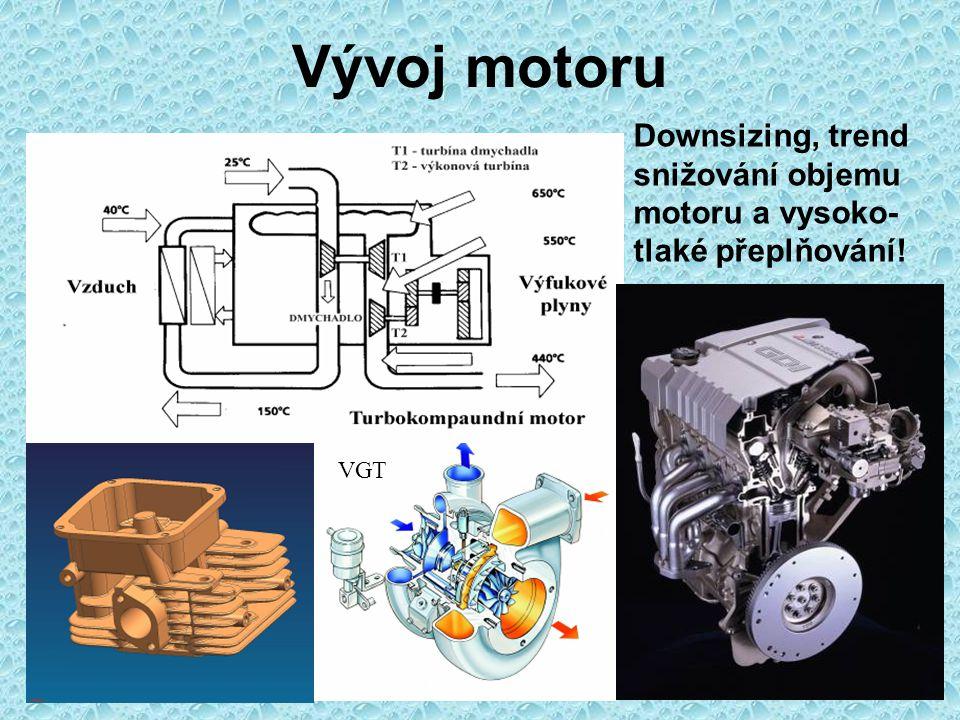 Možnosti vývoje motoru Technický a technologický vývoj Vývoj metod a metodik práce pístového spalovacího motoruMatematické modelování – konstrukce a materiál Počítačová simulace