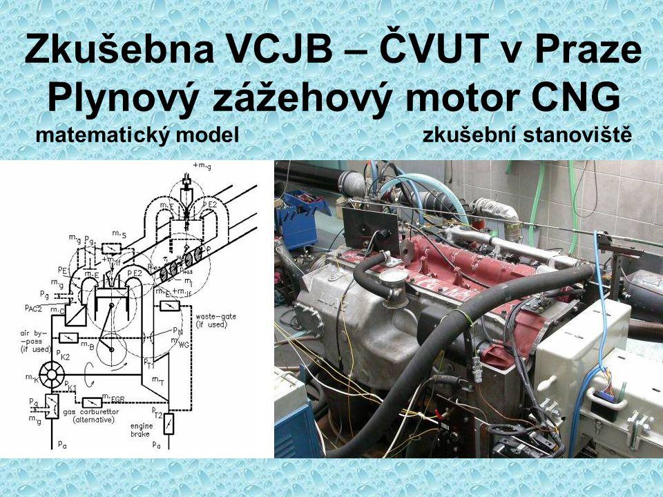 Zkušebna VCJB – ČVUT v Praze Dynamometr MEZ DS 736 Měření spotřeby Měření exhalací Indikace Tepelná bilance Elektronika