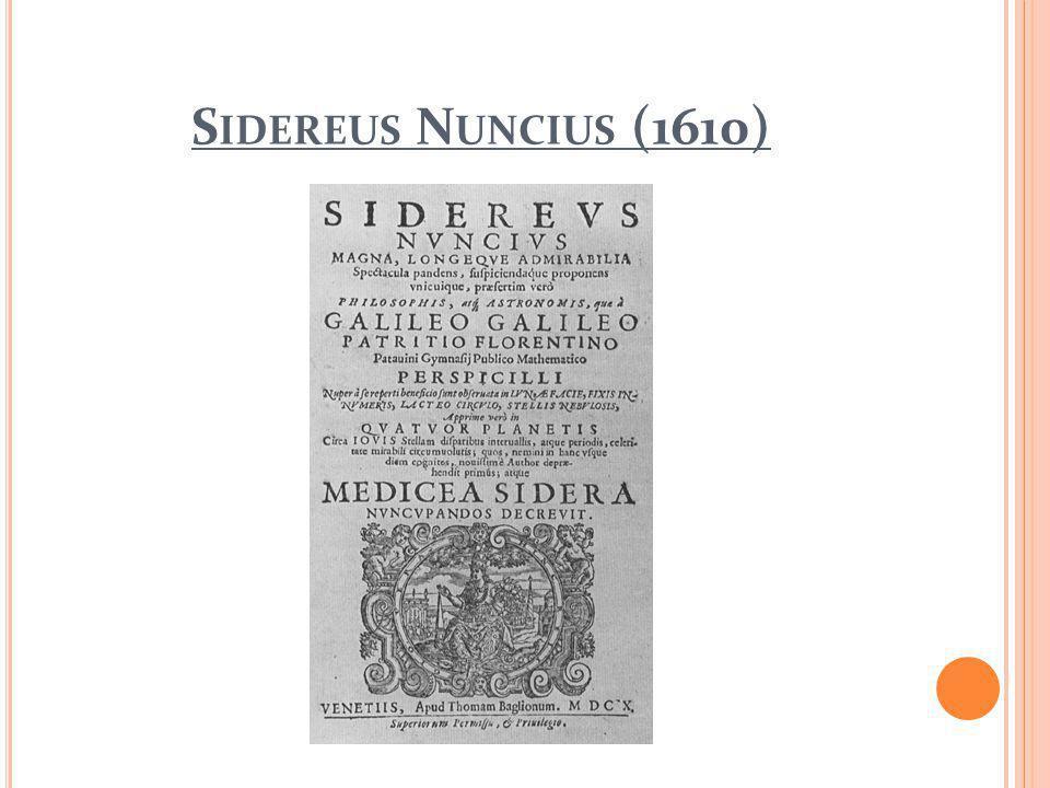 S IDEREUS N UNCIUS (1610)