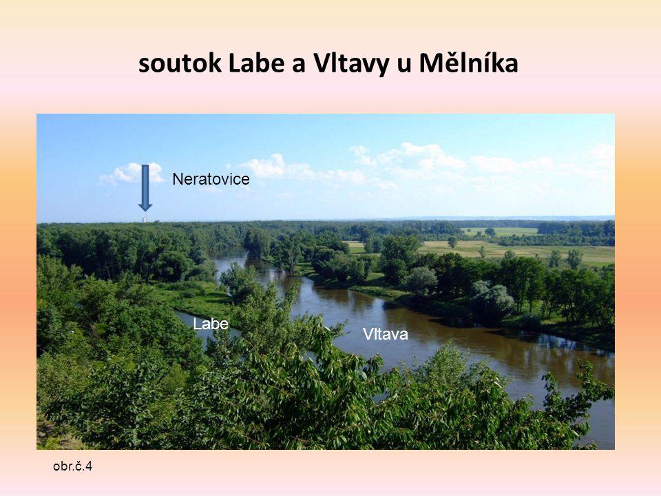 soutok Labe a Vltavy u Mělníka obr.č.4 Neratovice Vltava Labe