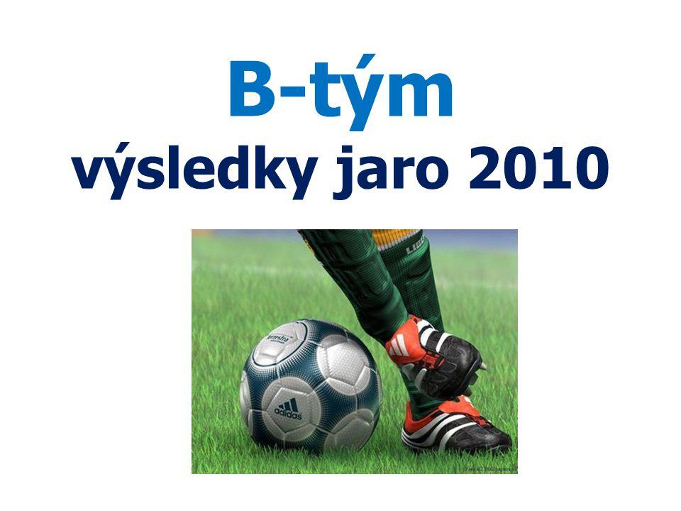 B-tým výsledky jaro 2010