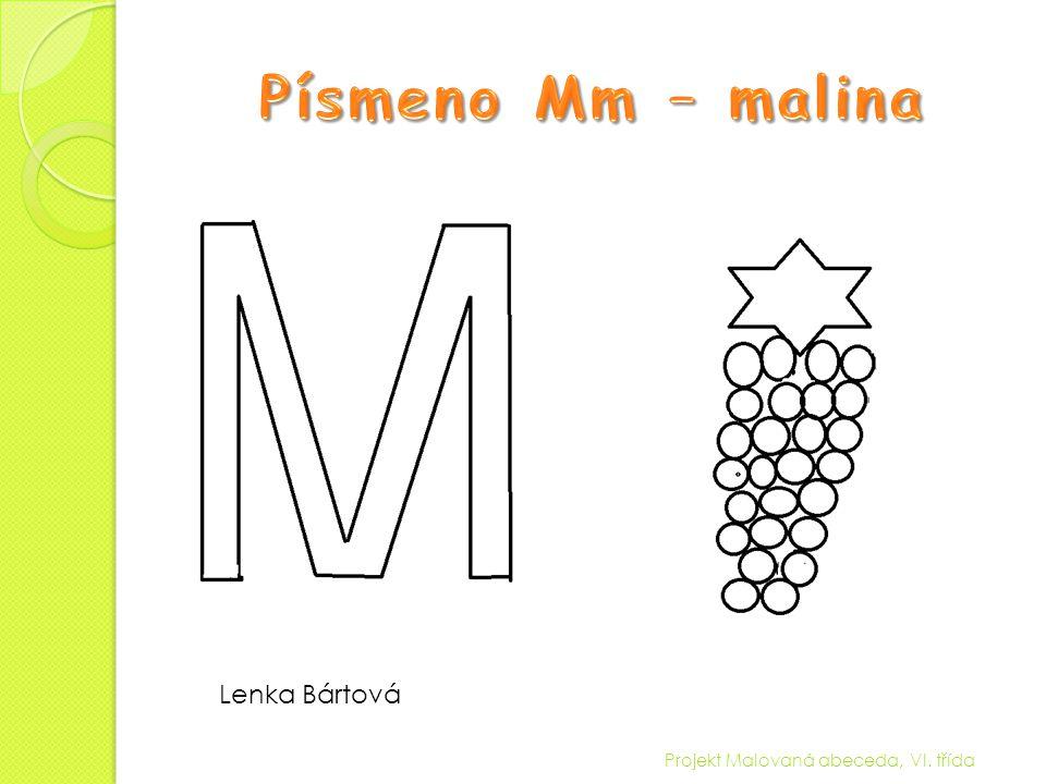 Projekt Malovaná abeceda, VI. třída Lenka Bártová