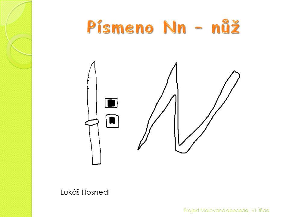 Projekt Malovaná abeceda, VI. třída Lukáš Hosnedl
