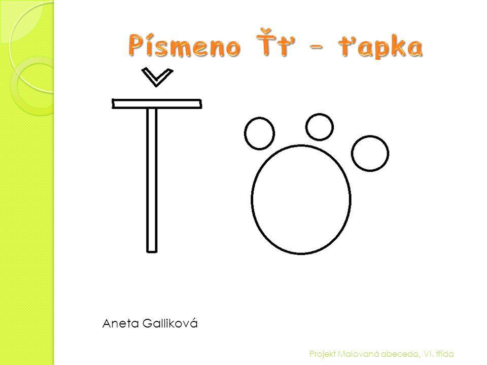 Projekt Malovaná abeceda, VI. třída Aneta Galliková
